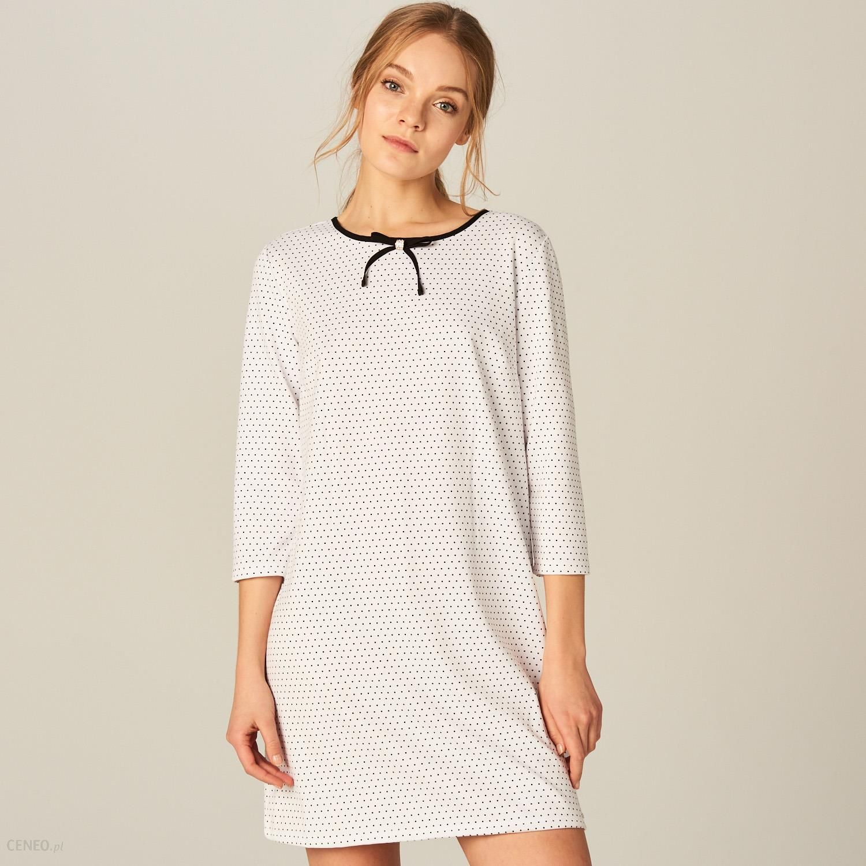 6a0891b565 Mohito - Sukienka typu pudełko - Kremowy - Ceny i opinie - Ceneo.pl