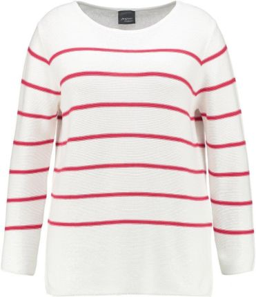 Persona by Marina Rinaldi LONGLINE JUMPER Sweter white with red