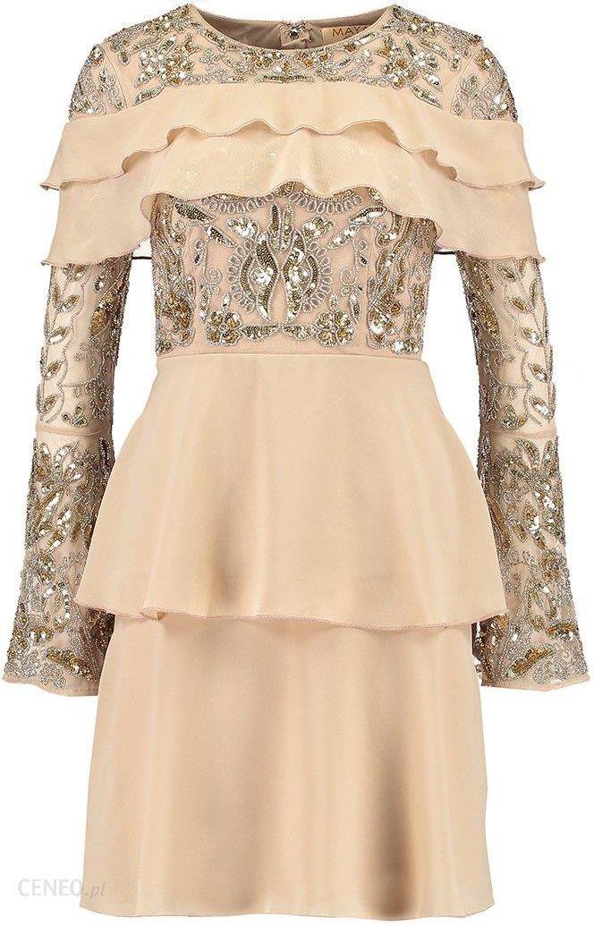 6fd3dd9ffd Maya Deluxe Sukienka koktajlowa nude - Ceny i opinie - Ceneo.pl