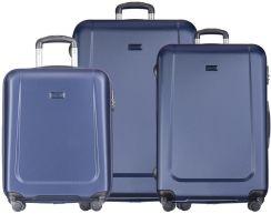 50b984d95ac8f PUCCINI ZESTAW walizek na 4 kółkach Ibiza - granatowy