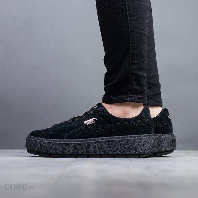 Buty damskie sneakersy Puma Suede Platform Trace 365830 01 CZARNY