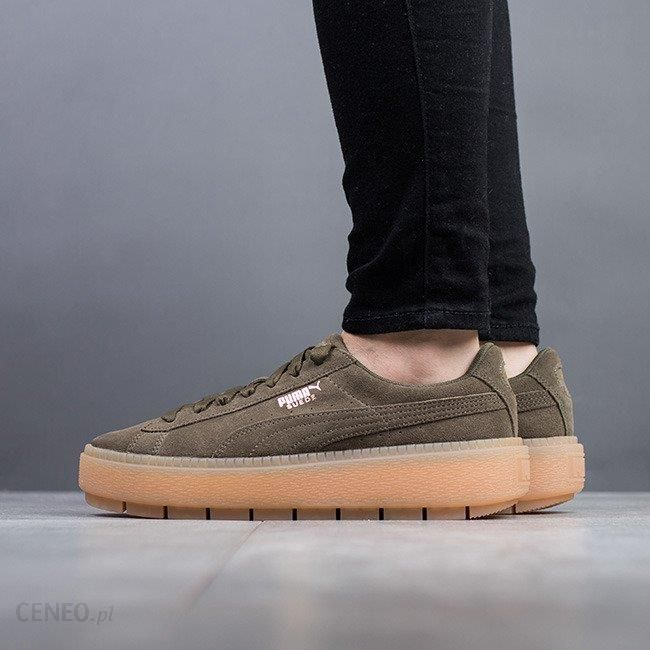 bf7a9ad7 Buty damskie sneakersy Puma Suede Platform Trace 365830 03 - ZIELONY -  zdjęcie 1
