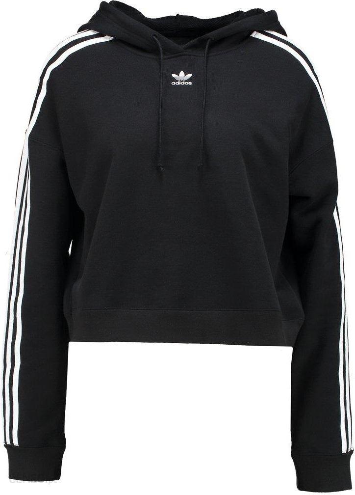 adidas Originals CROP HOOD Bluza z kapturem white