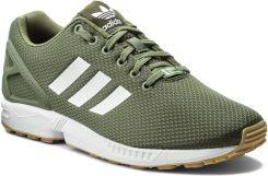 buty adidas originals zx flux czarno ciemny zielone