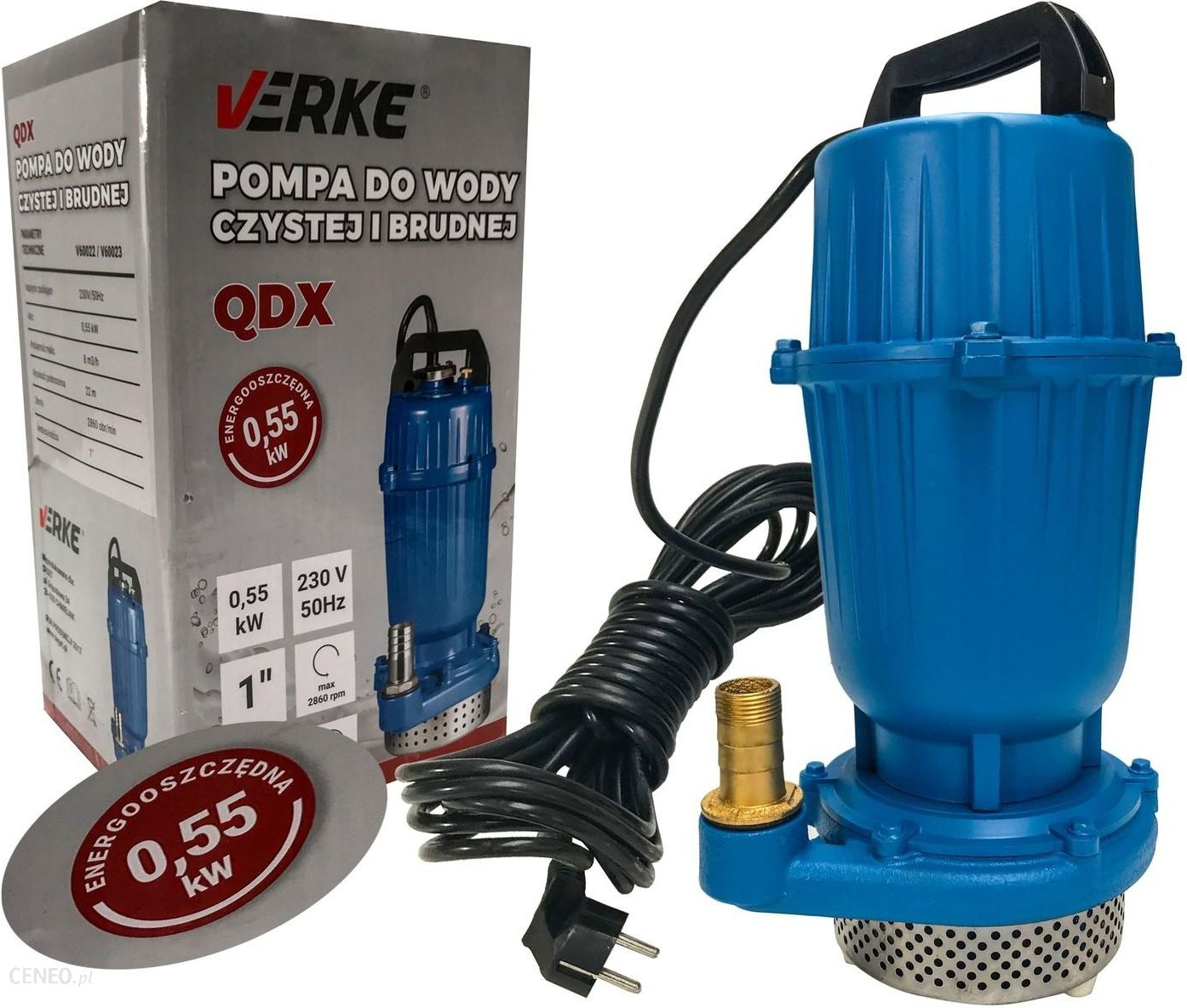 Verke Pompa Do Wody Brudnej Energooszczedna Qdx 550 Ceny I Opinie Ceneo Pl