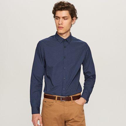 570e97eb3243 Reserved - Bawełniana koszula regular fit - Kremowy - męska - Ceny i ...