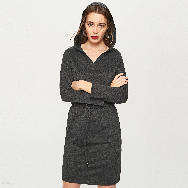 56a0718b6f Reserved - Dresowa sukienka z kapturem - Szary - Ceny i opinie ...