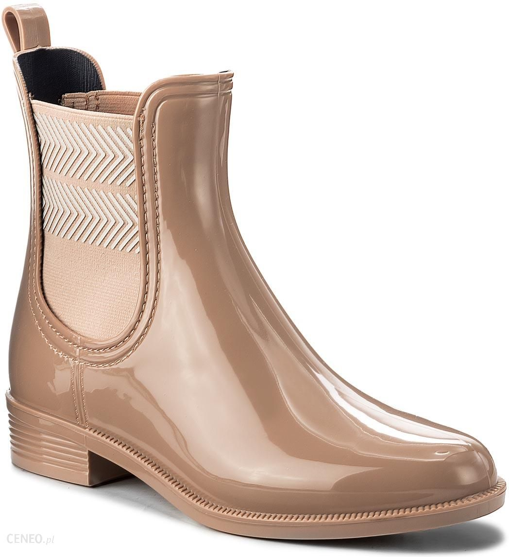 26a3c709cfb67 Kalosze TOMMY HILFIGER - Chelsea Rain Boot Striped FW0FW02817 Mahogany Rose  634 - zdjęcie 1