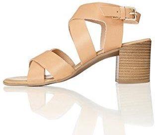 4cd503eb Amazon FIND Damen Sandalen mit Lederriemen, Braun (Cuoio), 37 EU