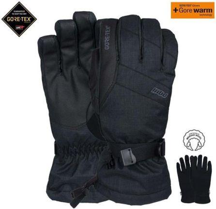 43fdb8c106388 Mohito - Pikowane rękawiczki z futrem syntetycznym - Czarny - Ceny i ...