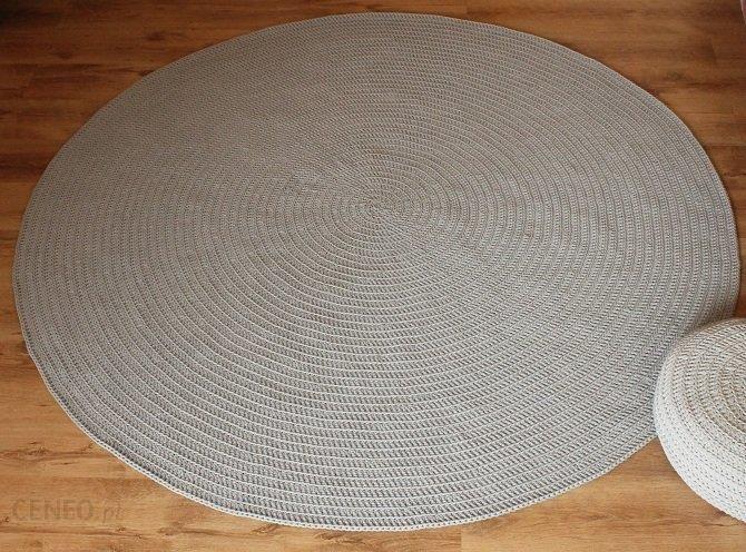 Groovy Dywan ręcznie tkany, okrągły Jasny szary - Opinie i atrakcyjne EC65