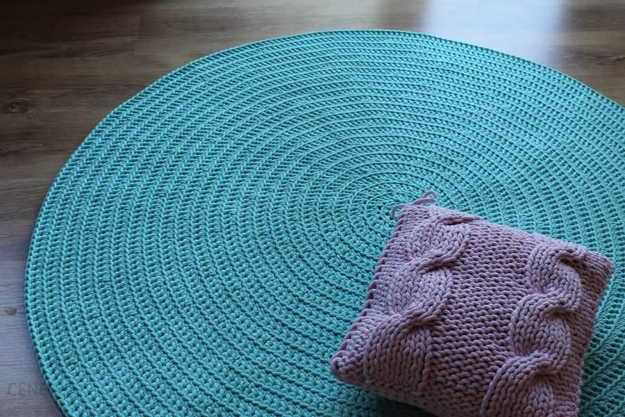 Fantastyczny Dywan ręcznie tkany, okrągły, Morski - Opinie i atrakcyjne ceny na BP33