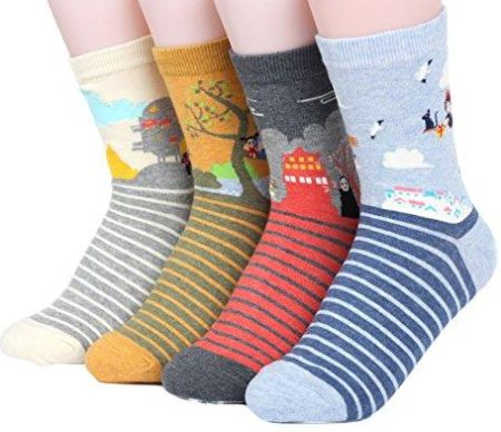 Amazon Famous Japanese Animation Series Women's Socks 4 pairs Made in Korea