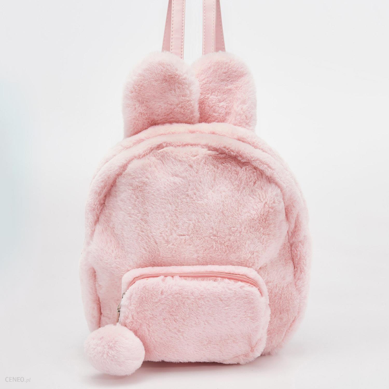 57152b2b0024 Sinsay - Puszysty plecak z uszami - Różowy - Ceny i opinie - Ceneo.pl