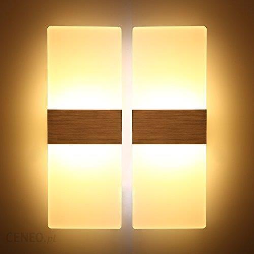 Amazon Najmodniejsza 2er Pack 12 W Ciepłe Białe Lampa ścienna Led Lampy Idealnie Nadaje Się Do Sypialni Salonu Na Klatce Schodowej I Na Lotniskach D