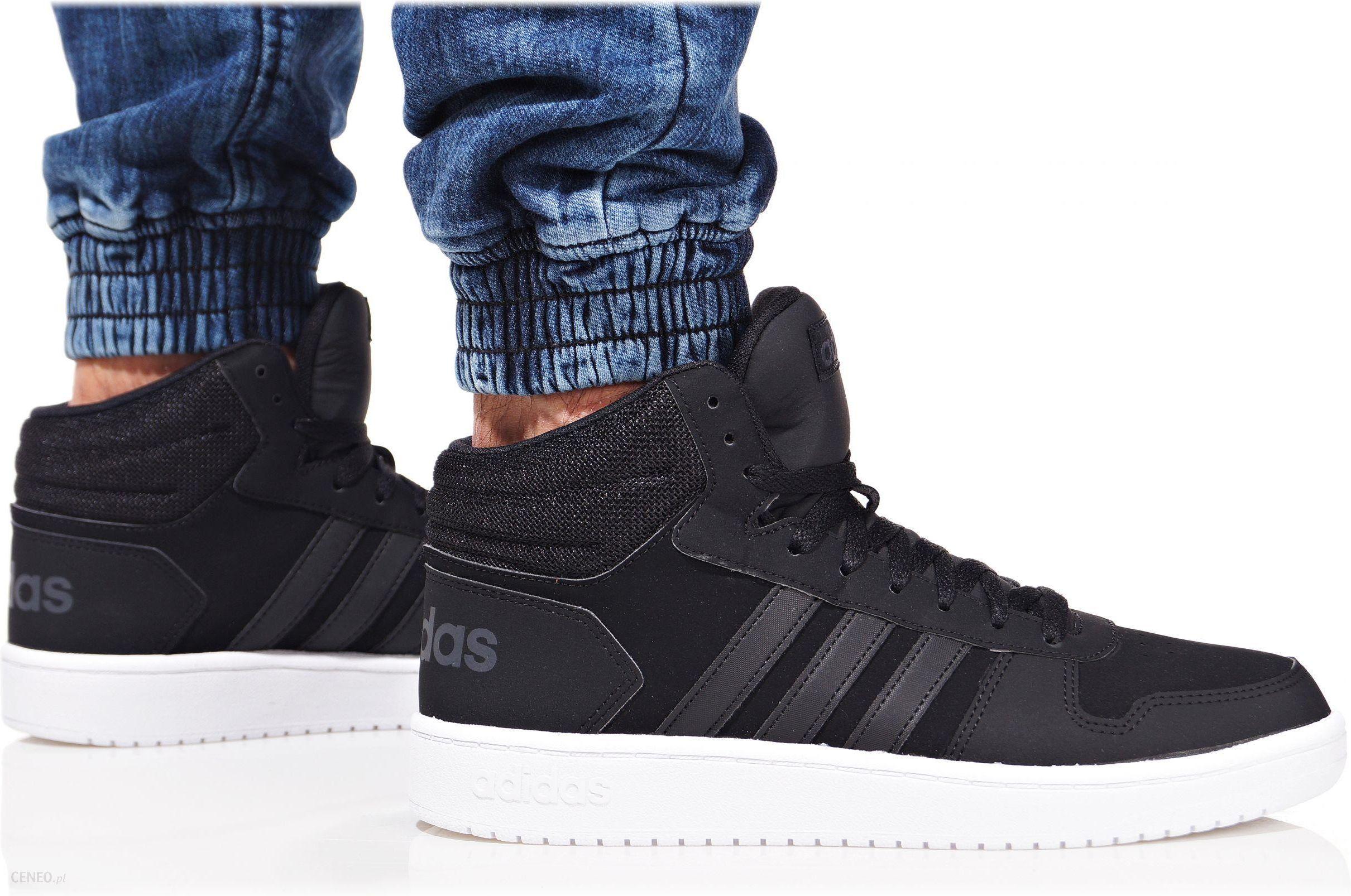 Buty Adidas Męskie Hoops 2.0 MID DB0113 Czarne Ceny i opinie Ceneo.pl