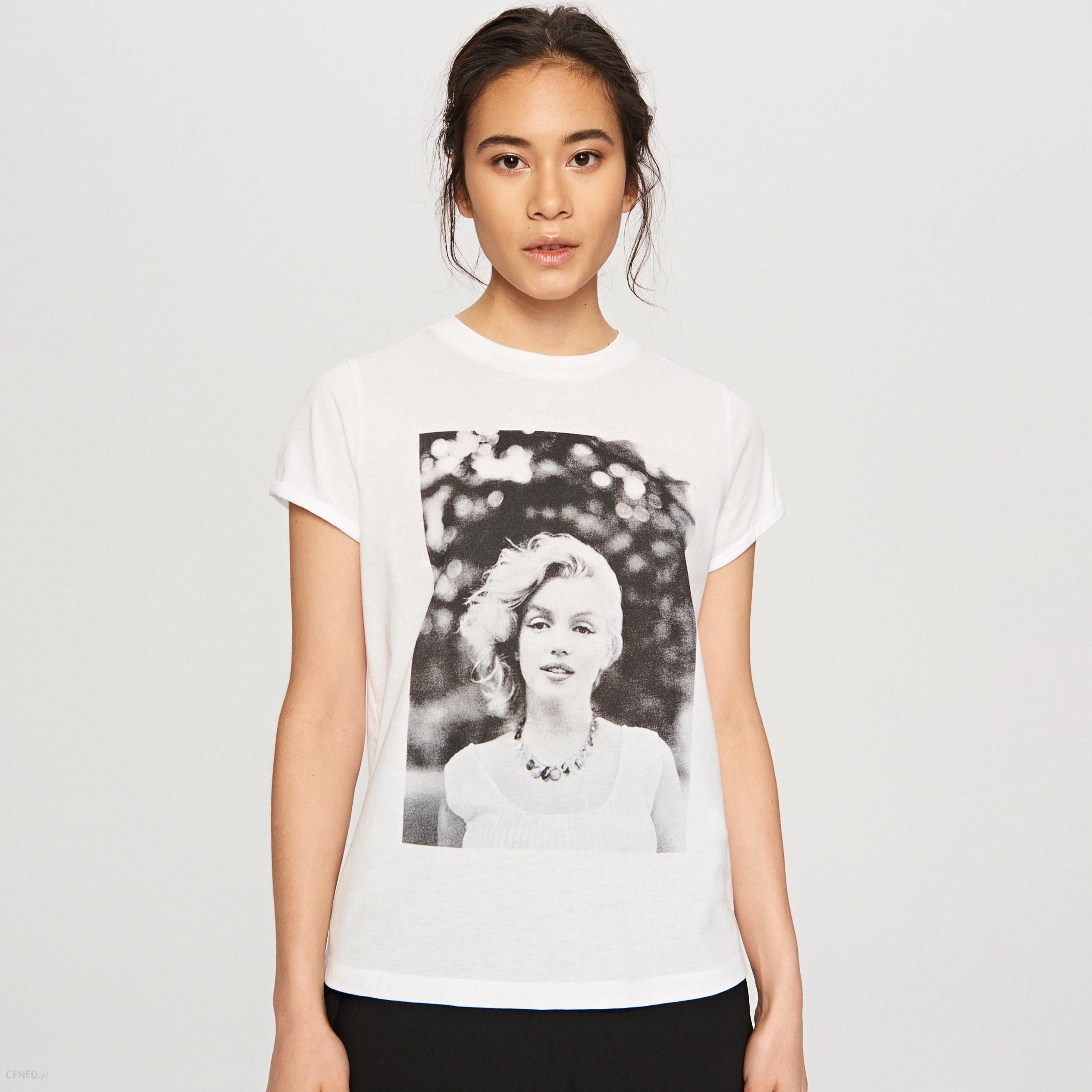 9a245234c6f51e Reserved - T-shirt marilyn monroe - Biały - Ceny i opinie - Ceneo.pl