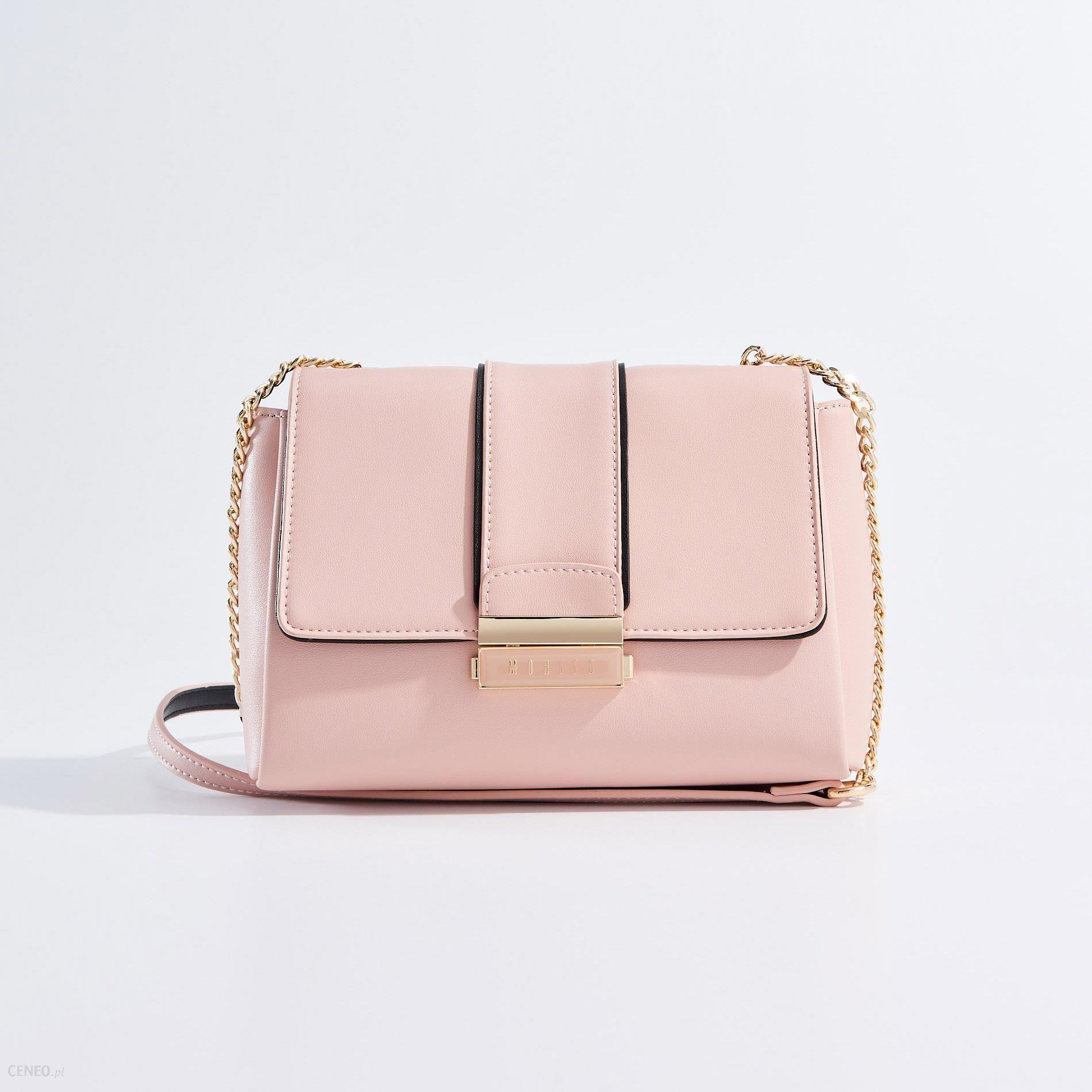 b4906f2fcf687 Mohito - Mała torebka na łańcuszku - Różowy - Ceny i opinie - Ceneo.pl