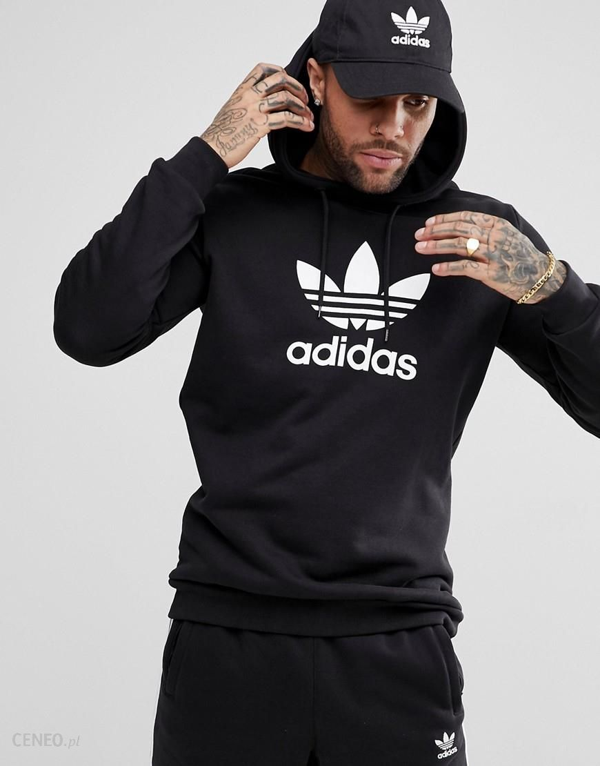 adidas Originals adicolor Hoodie With Trefoil Logo In Black CW1240 Black