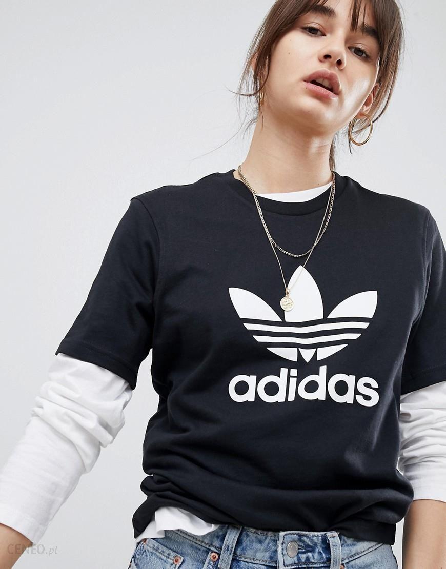 adidas Originals adicolor Trefoil Oversized T Shirt In Black Black