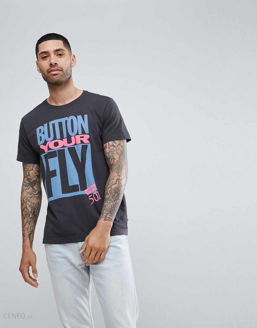 Levi's Button Your Fly T Shirt White White Ceneo.pl