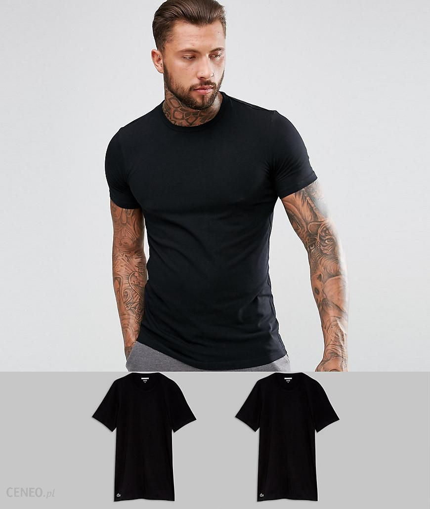 6895d028b9974 Lacoste Crew T-Shirt 2 Pack Slim Fit Black - Black - zdjęcie 1