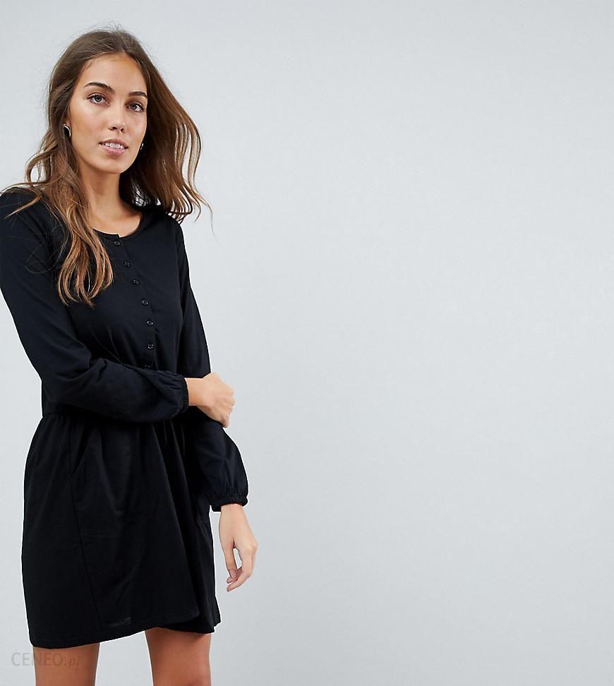 9b2da091 Mamalicious Nursing Long Sleeve Jersey Skater Dress - Black - zdjęcie 1