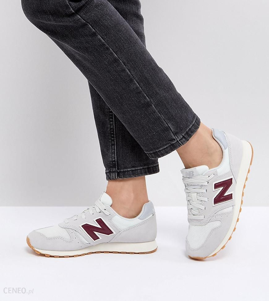 356ae3a6fdf New Balance 373 Suede Trainers In Off White And Burgundy - White - zdjęcie 1