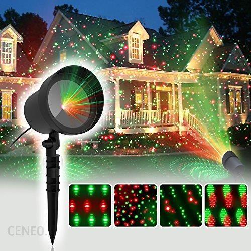 Amazon Coowoo Boże Narodzenie Projection Oświetlenie Led Do Wnętrz I Na Zewnątrz Boże Narodzenie Punkty Gwiazdy Ceneopl