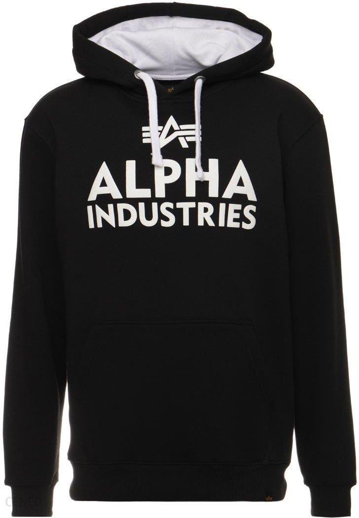 Alpha Industries FOAM Bluza z kapturem blackwhite Ceny i opinie Ceneo.pl