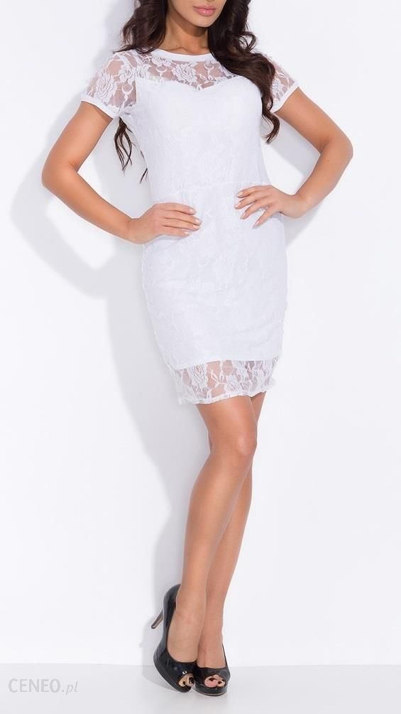 9131b86cf7 Delikatna sukienka z koronki 3 kolory NOWA KOLEKCJA - Ceny i opinie ...