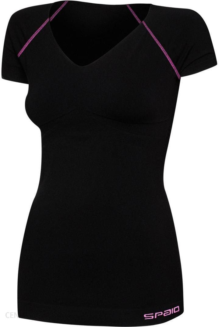 33667199fc9745 Spaio Damska koszulka sportowa Fitness czarny L/XL - Ceny i opinie ...