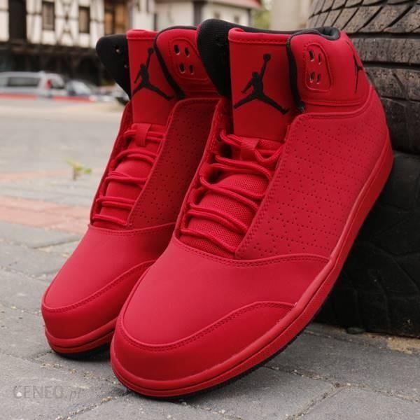 Czerwone buty nike Jordan