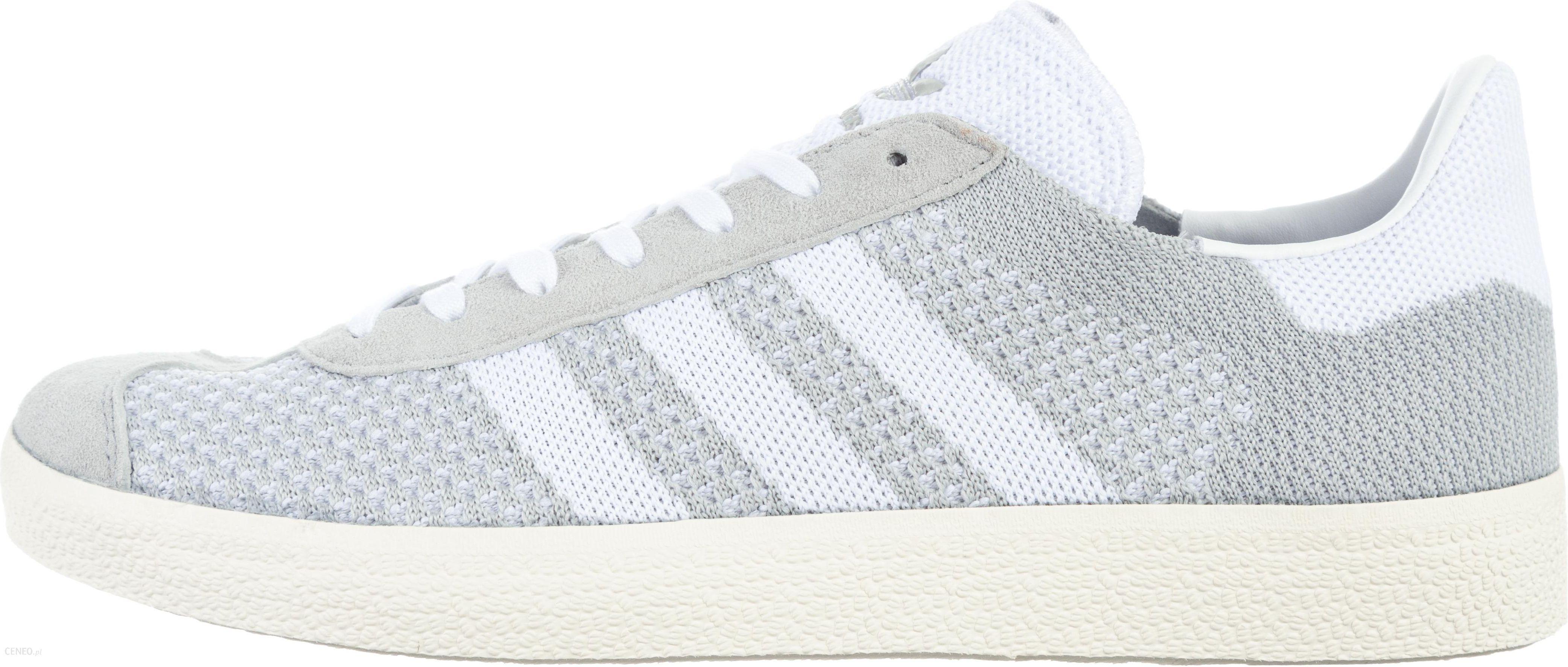 pretty nice d2933 319c9 adidas Originals Gazelle Primeknit Sneakers Biały Szary 44 - zdjęcie 1