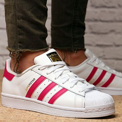 Buty adidas Superstar Foundation Junior White Pink B23644 Ceny i opinie Ceneo.pl