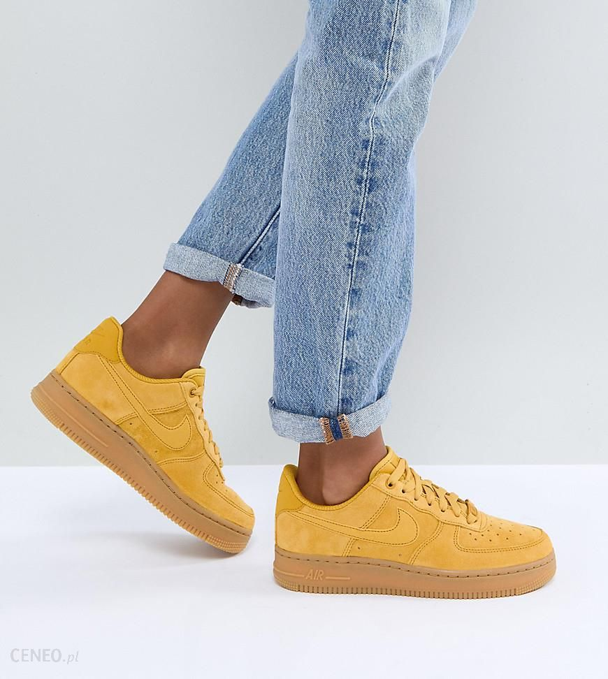 Nike Air Force 1 Mustard Suede Trainers With Gum Sole | Moda