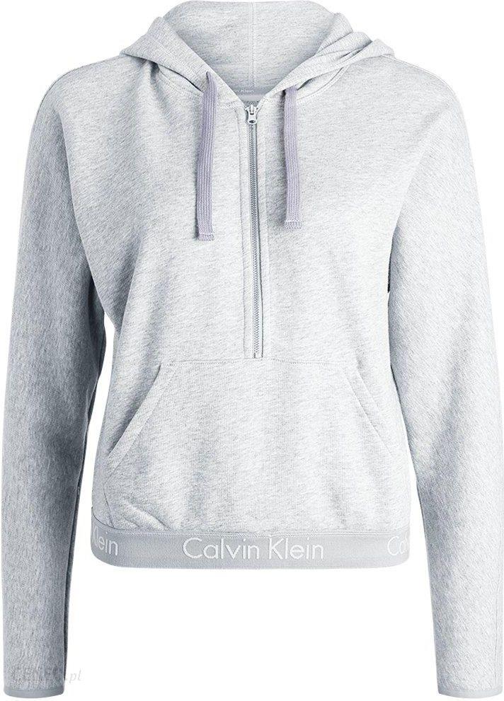 81f190e340b354 Calvin Klein Underwear HALF ZIP HOODIE Koszulka do spania grey - zdjęcie 1