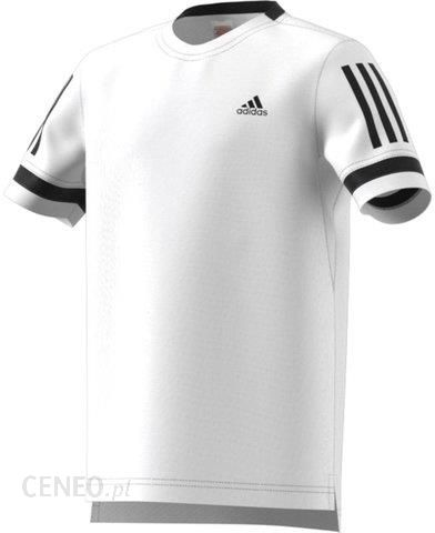 Adidas Koszulka chłopięca Club 3 Stripes Tee whiteblack CV5894 Ceny i opinie Ceneo.pl