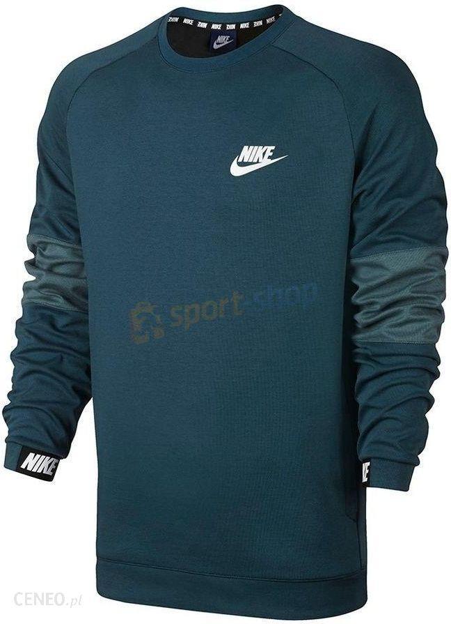 w magazynie na stopach o nowe tanie Bluza męska Sportswear Advance 15 Crew Fleece Nike (zielona ...