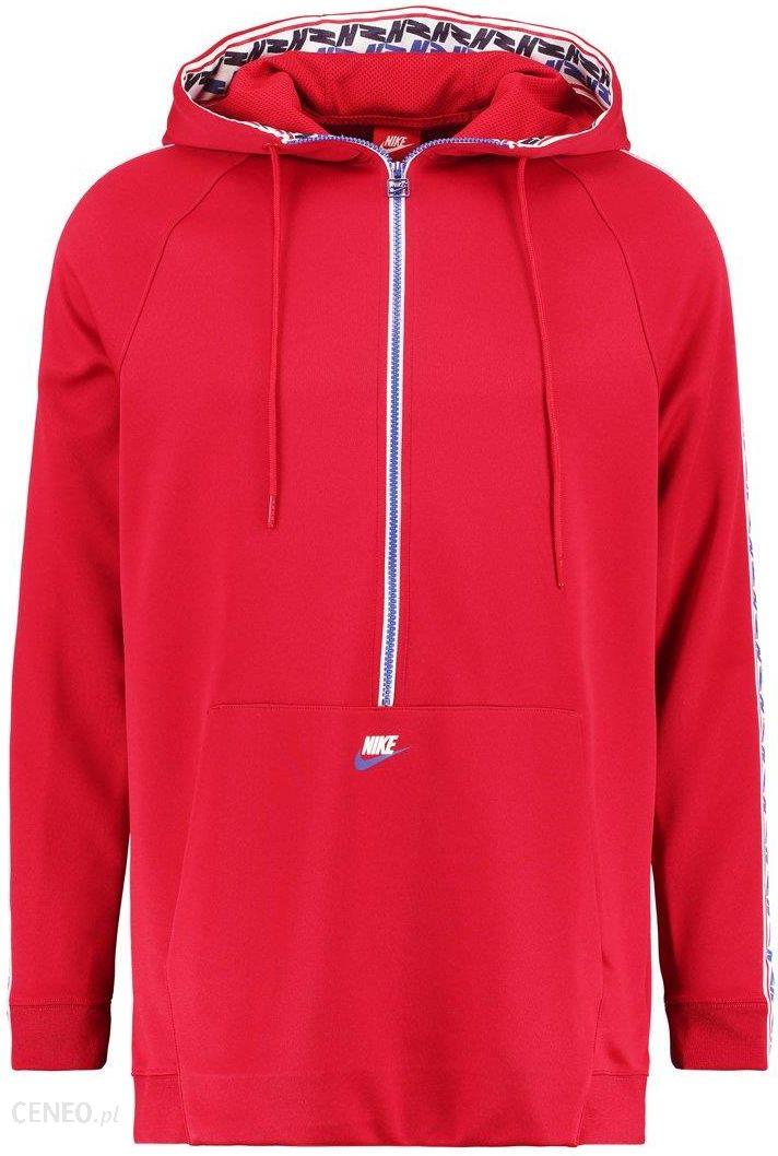 0c6294049 Nike Sportswear TAPED HALF ZIP HOOD Bluza z kapturem gym red/gym blue/sail