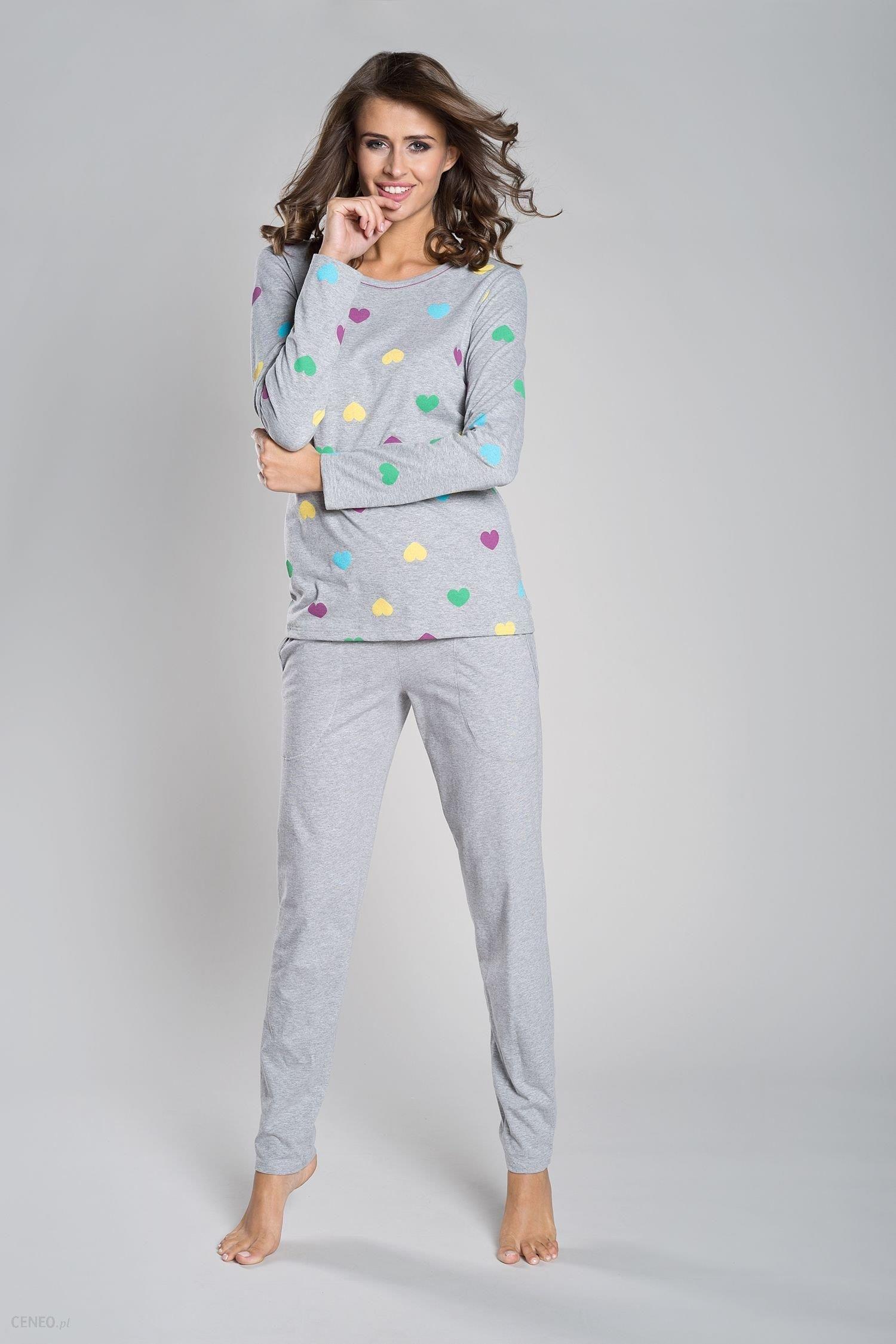 b2d36fe3b2a1ae Italian fashion Piżama damska Alla szara r. M. - Ceny i opinie ...