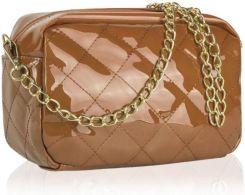 bf213c1921062 Nude, lakierowana, mała torebka pikowana Odcienie brązowego - Ceny i ...