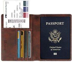 1dcde4bb04f61 Amazon Fintie skórzane etui na paszport, z ochroną RFID, z przegródkami na  paszport,