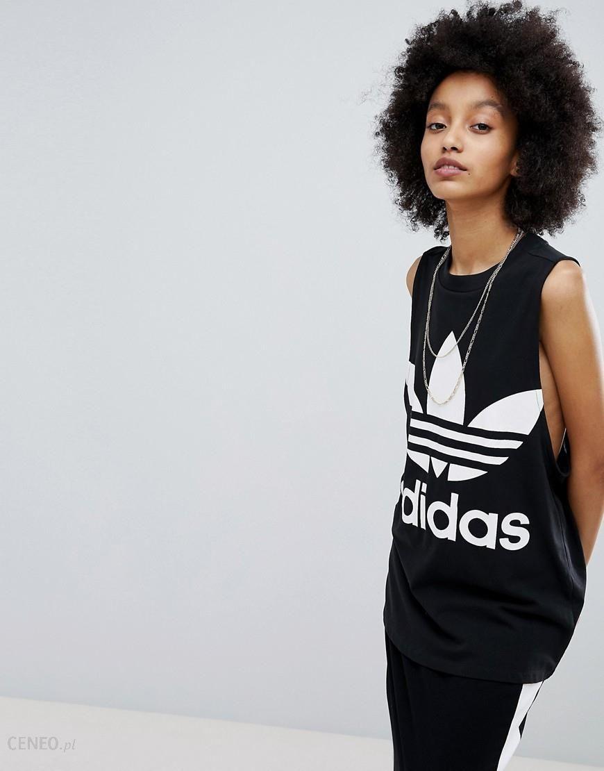 adidas Originals adicolor Big Trefoil Tank Top In Black Black