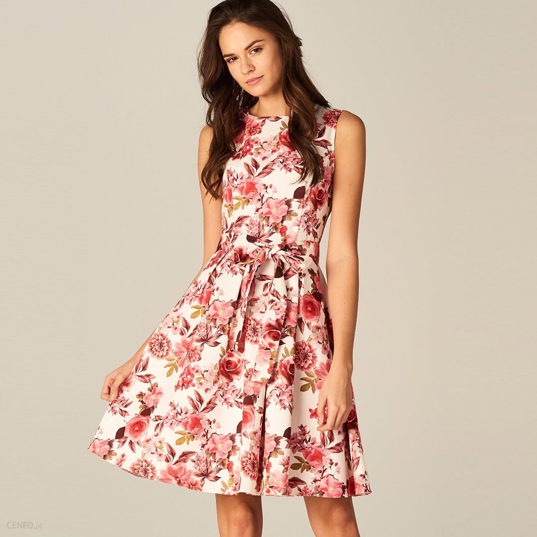e0e3cc06 Mohito - Rozkloszowana sukienka w kwiaty - Wielobarwn - Ceny i opinie -  Ceneo.pl
