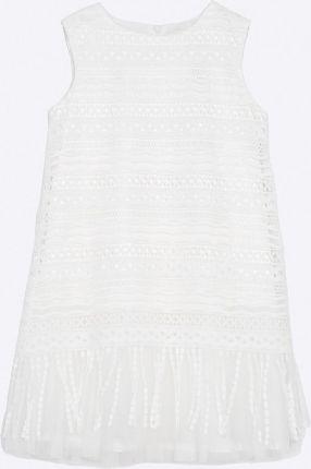753ea3f57f NANAF ORGANIC Sukienka z kołnierzykiem - biała