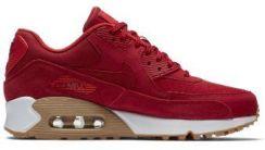 Buty dla dużych dzieci Nike Air Max 90 SE Leather Czerwony