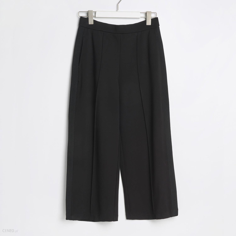 Reserved Spodnie culotte Czarny Ceny i opinie Ceneo.pl