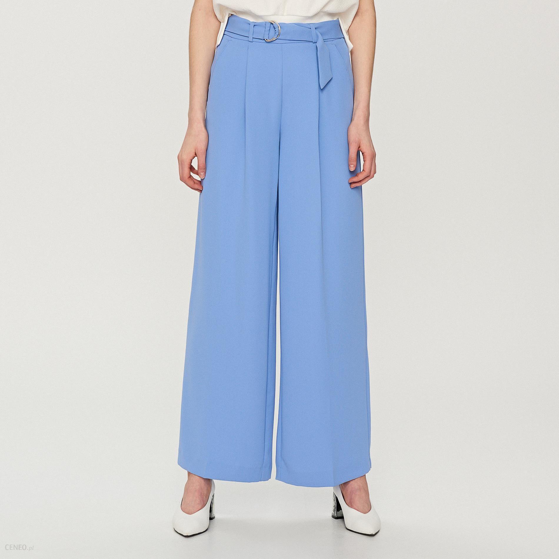 31c021534b3df6 Reserved - Szerokie spodnie na kant - Niebieski - Ceny i opinie ...