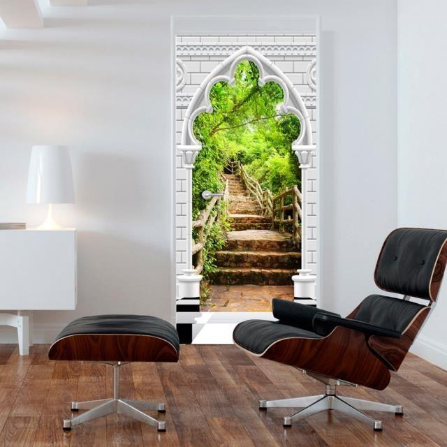 6d6cab17 Fototapeta tapeta na drzwi HD 3D Tapeta na drzwi Łuk gotycki i kamienne  schody 70x210